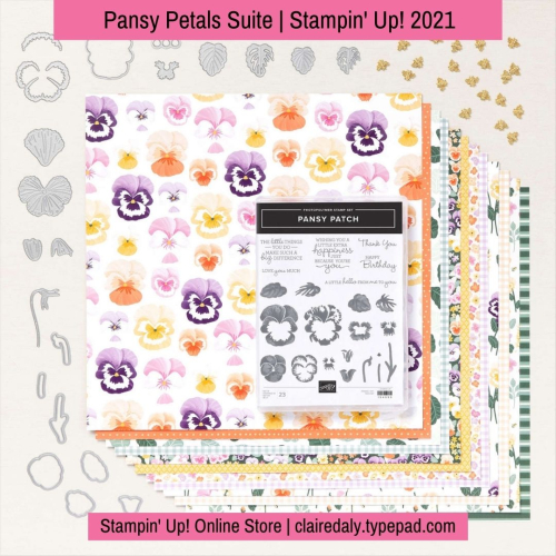 Stampin Up Pansy Petals Suite available from Claire Daly, Stampin Up Demonstrator Melbourne Australia