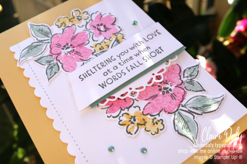 Stampin Up Hand Penned Petals bundle (new for 2021) handmade thinking of you / sympathy card. Claire Daly, Stampin Up Demonstrator Melbourne Australia.