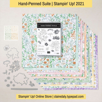 Stampin Up New 2021 Hand Penned Suite. Available in Australia from Claire Daly Stampin Up Demonstrator Melbourne Australia
