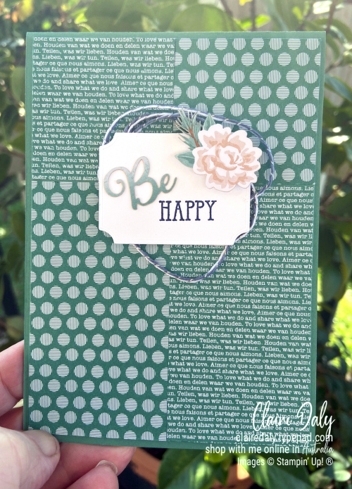 Just Jade  2020 Stampin' Up! InColour. Card by Claire Daly, Stampin' Up! Demonstrator Melbourne Australia.
