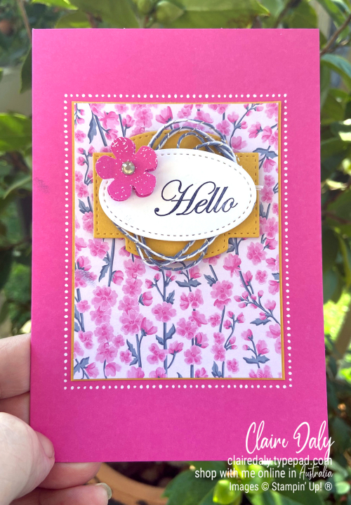 Magenta Madness. New 2020 Stampin Up Incolour. Flowers for all Seasons card by Claire Daly Stampin' Up! Demonstrator Melbourne Australia.