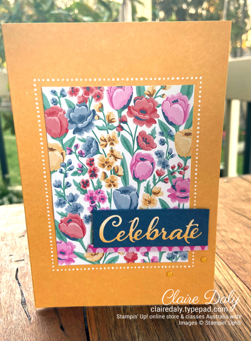 Stampin' Up! Bumblebee with Flowers for Every Season, by Claire Daly Stampin' Up! Demonstrator Melbourne Australia.