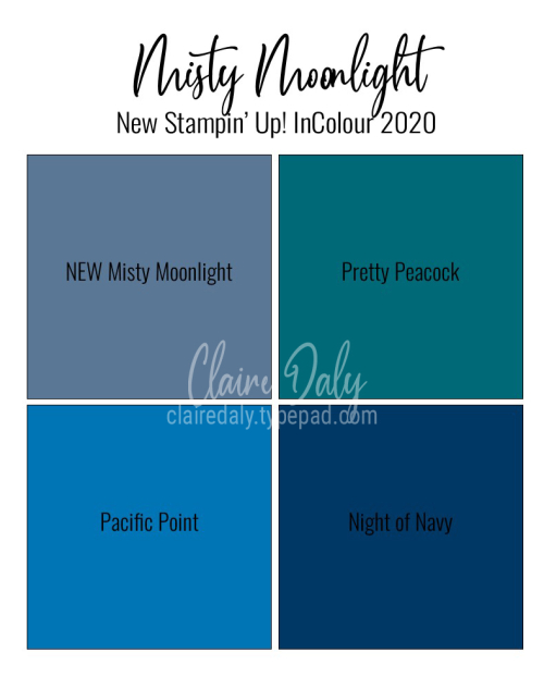 New 2020 In Colour Misty Moonlight Stampin' Up!