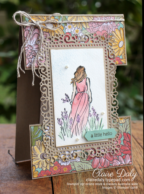 Stampin Up Beautiful Moments | Ornate Garden split panel card. Claire Daly, Stampin' Up! Demonstrator Melbourne Australia.