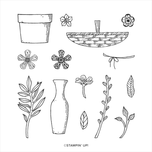 Stampin' Up! Basket of Blooms. Buy online in Australia.