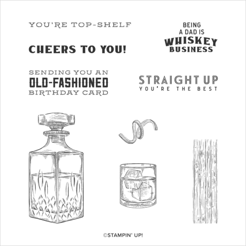 Stampin Up Whiskey Business stamp set. 2020. Buy in Australia in my onine store.