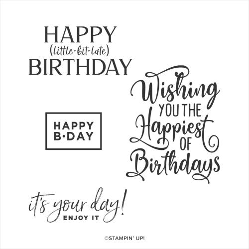 Happiest of Birthdays stamp set. 2020. Buy in Australia in my online store