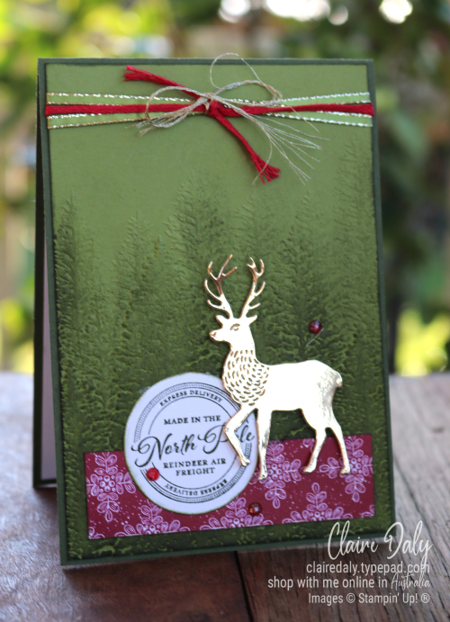2020 Stampin Up Christmas Card using Wishes and Wonder stamp set / bundle. Claire Daly, Stampin' Up! Demonstrator, Melbourne Australia.