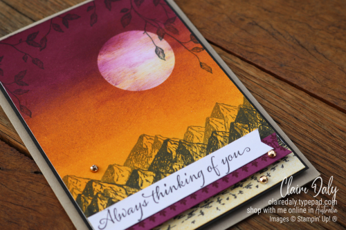 Stampin Up Mountain Air and Very Versailles stamp sets. 2020 card by Claire Daly, Stampin' Up! Demonstrator Melbourne Australia.