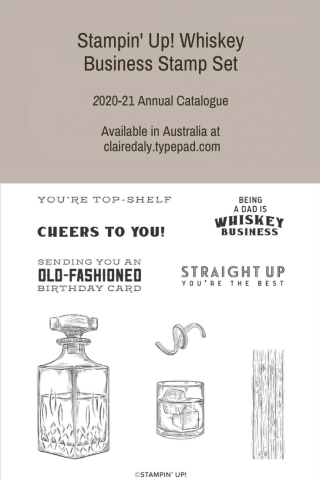 Stampin' Up! Whiskey Business Stamp Set. Available from my online store in Australia.