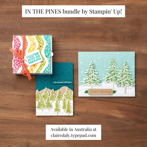 Stampin Up In the Pines 2020 Christmas Card Ideas