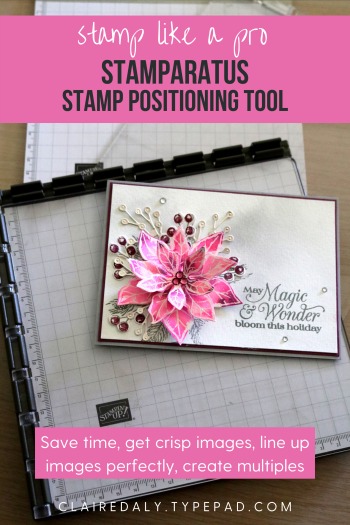 Stampin Up Stamparatus Stamp Positioning Tool. Available in Australia at Claire Daly, Stampin Up Demonstrator Melbourne Australia