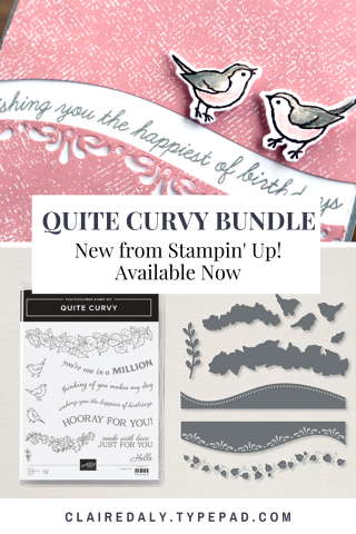 Stampin' Up! Quite Curvy Bundle. Available in my online store in Australia. Claire Daly Stampin Up Demonstrator Melbourne Australia.