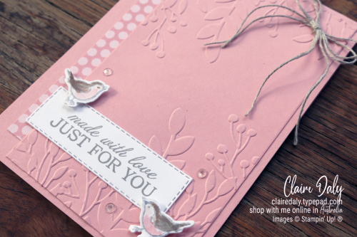 Stampin Up Quite Curvy Bundle card idea from 2021 Mini Catalogue. By Claire Daly, Stampin Up Demonstrator Melbourne Australia.