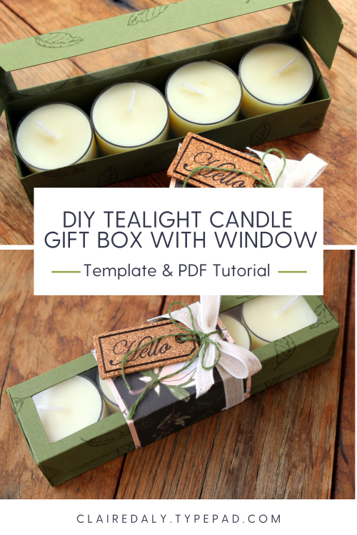 DIY Tealight Gift Box Template and PDF Tutorial by Claire Daly, Stampin Up Demonstrator Melbourne Australia