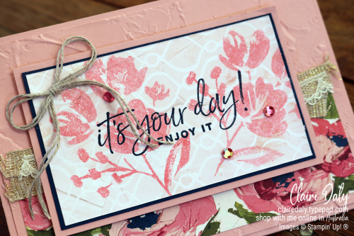 Stampin Up Birthday Card using 2021 Fine Art Floral Suite