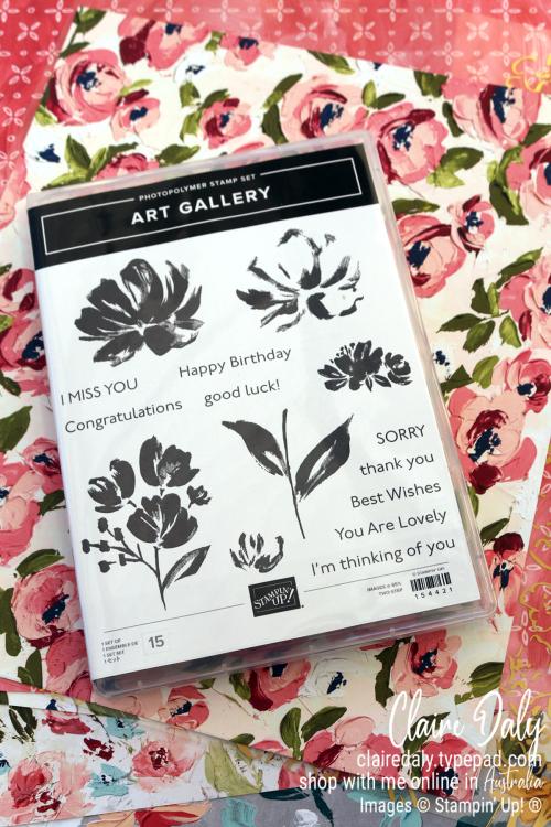 Stampin Up Art Gallery Stamp Set