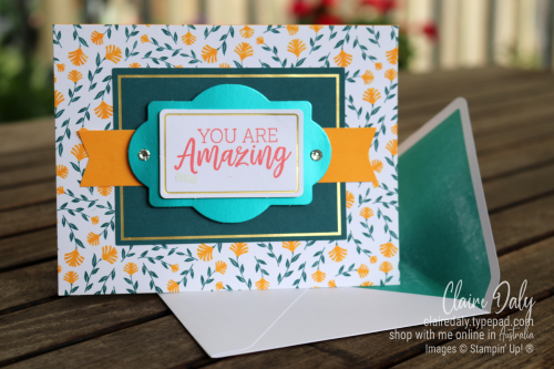 Congratulations card idea using You are Amazing Project Kit.