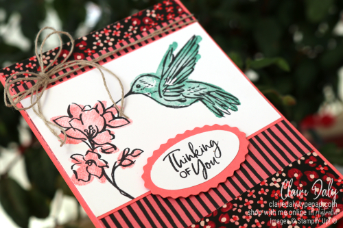 Stampin Up 2021 Thinking of You card using Touch of Ink Saleabration stamp set