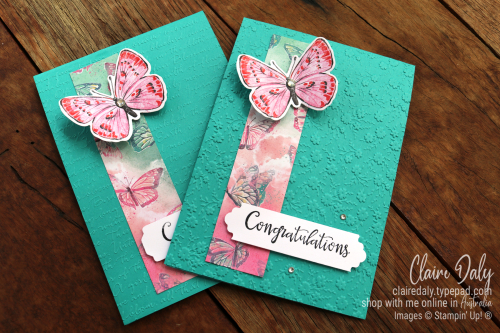Stampin Up Butterfly Brilliance Quick and Easy handmade card by Claire Daly, Stampin Up Demonstrator, Melbourne Australia.