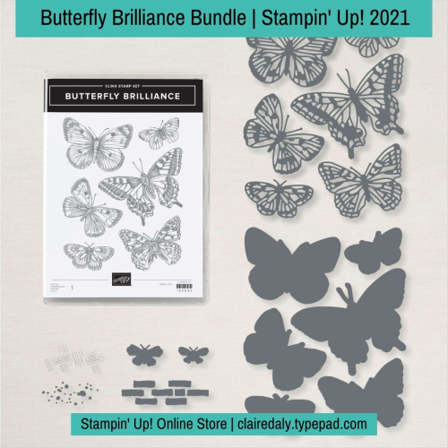 Stampin Up 2021 Butterfly Brilliance Bundle avaialble in Australia from Claire Daly
