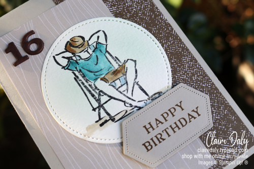 Stampin Up Teen Boy Birthday Card using A Good Man stamp set.