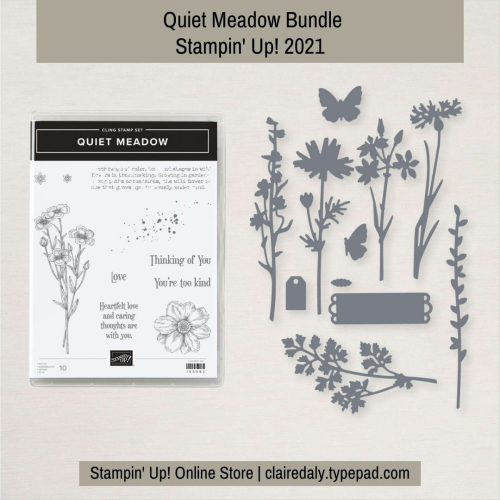 Quiet Meadow Stampin Up 2021 Bundle. Available from my online store.