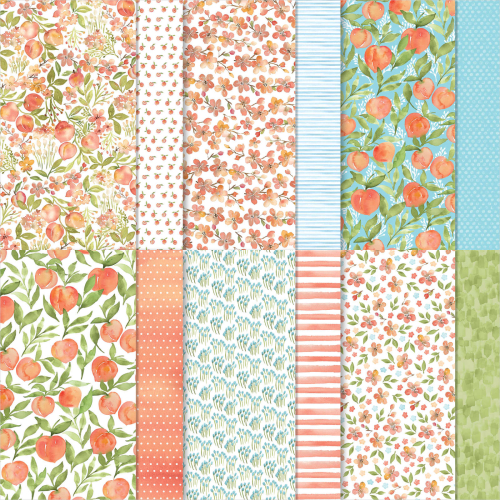 Stampin Up 2021 You're a Peach Designer Series Paper Pack. Available in Australia from Claire Daly. Stampin Up Demonstrator Melbourne