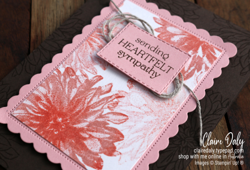 Stampin Up Delicate Dahlia Sympathy card for 2021 August / September Saleabration. Card by Claire Daly, Stampin' Up! Demonstrator Melbourne Australia