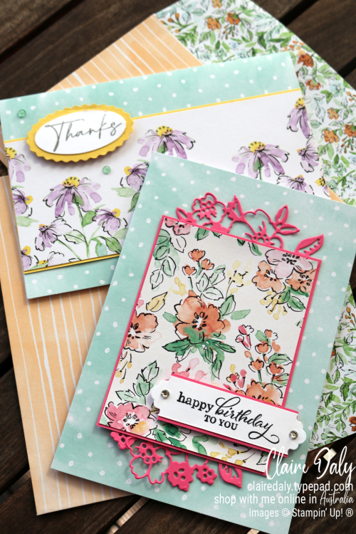 Stampin Up Hand Penned Quick and Easy Cards by Claire Daly, Stampin Up Demonstrator Melbourne Australia