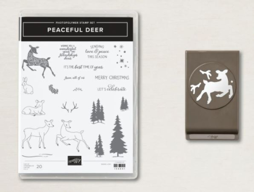 Stampin Up Peaceful Deer Bundle, available from Claire Daly, Stampin Up Demonstrator Melbourne Australia