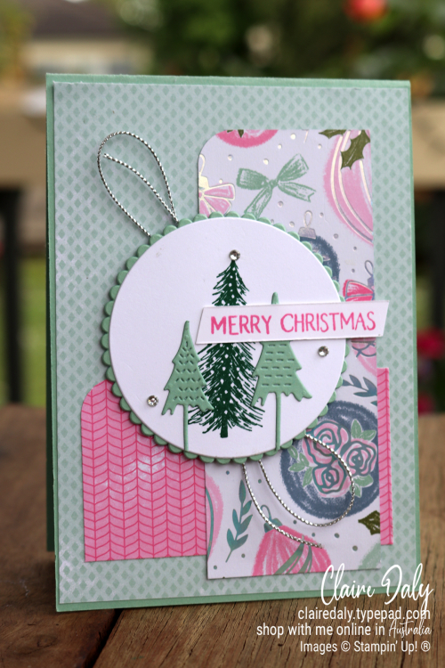 Stampin Up Whimsy and Wonder 2021 Christmas card by Claire Daly, Stampin' Up! Demonstrator Melbourne Australia