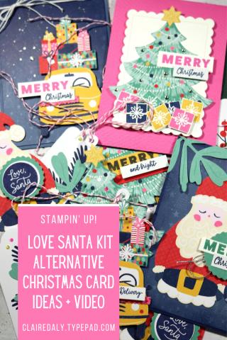 Love Santa Tag Kit Alternatives by Claire Daly. Stampin' Up! Demonstrator Melbourne Australia
