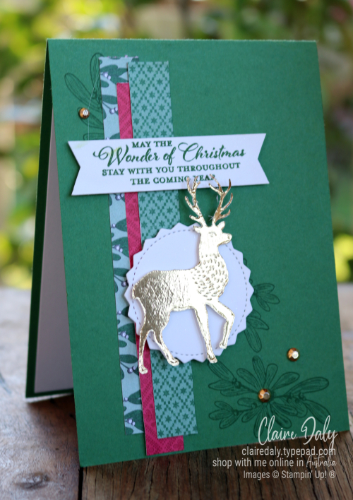Stampin' Up! Wishes and Wonder 2020 Christmas Card by Claire Daly, Stampin' Up! Demonstrator, Melbourne Australia