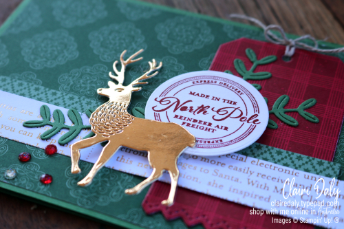 2020 Stampin' Up! Wishes and Wonder Christmas Card by Claire Daly, Stampin Up Demonstrator Melbourne Australia
