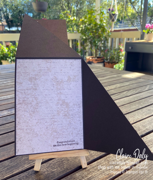 Fancy Fold Triangle card using Stampin' Up! World of Good Product Suite / Beautiful World stamp set and bundle. 2020 card by Claire Daly Stampin' Up! Demonstrator Melbourne Australia.