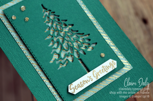 2020 Stampin Up Christmas Card using  In the Pines Bundle.Card by Claire Daly Stampin' Up! Demonstrator Melbourne Australia