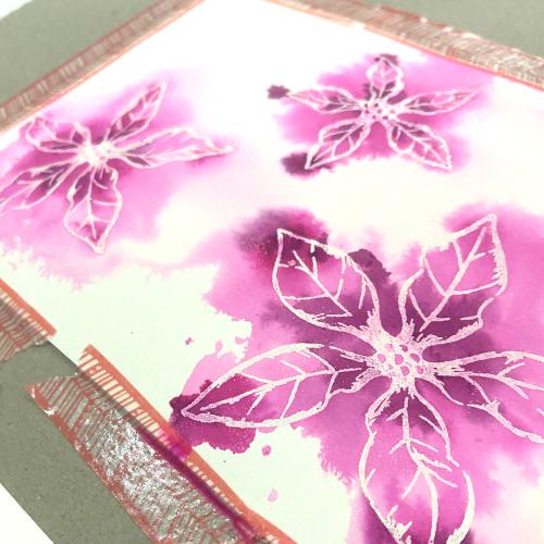 Pink Poinsettia in progress