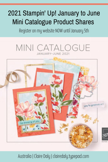 2021 Stampin Up Mini Catalogue Product Shares in Australia
