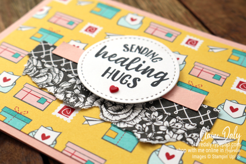 Stampin Up Snail Mail 2021 Get Well card by Claire Daly
