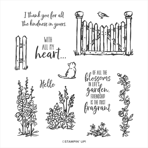 Stampin Up Graces Garden Stamp Set. Available in Australia from Claire Daly, Stampin' Up! Demonstrator Melbourne Australia