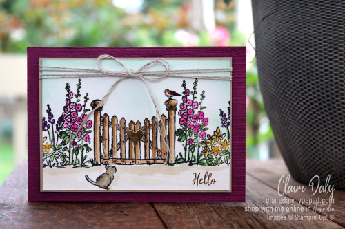 Stampin Up Graces Garden watercolour card by Claire Daly Stampin' Up! Demonstrator Melbourne Australia