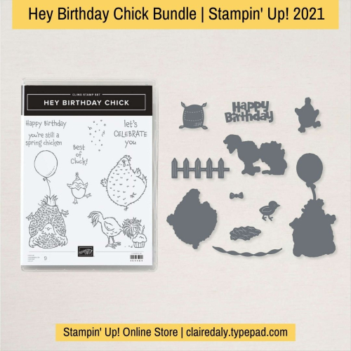 Stampin Up Hey Birthday Chick bundle available from Claire Daly, Stampin' Up! Demonstrator Melbourne Australia