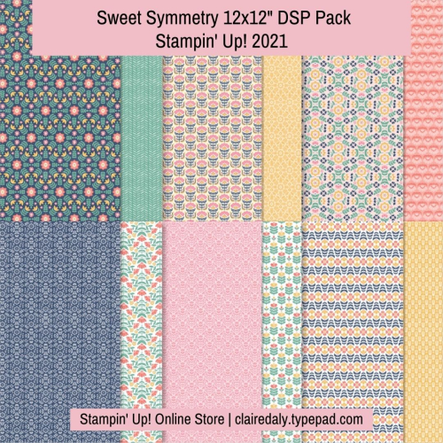Sweet Symmetry Designer Paper. 2021. Available in my online Stampin Up store.