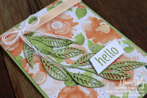 Quick and easy Stampin Up Artistically Inked bundle card by Claire Daly, Stampin Up Demonstrator Melbourne Australia