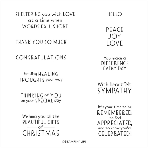 Stampin Up 2021 sentiment set Inspired Thoughts. Available in Australia from Claire Daly. Stampin Up Demonstrator Melbourne.