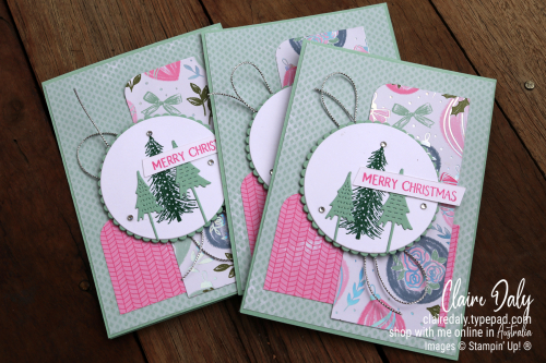 Stampin Up Whimsy and Wonder 2021 Christmas card by Claire Daly, Stampin' Up! Demonstrator Melbourne Australia.