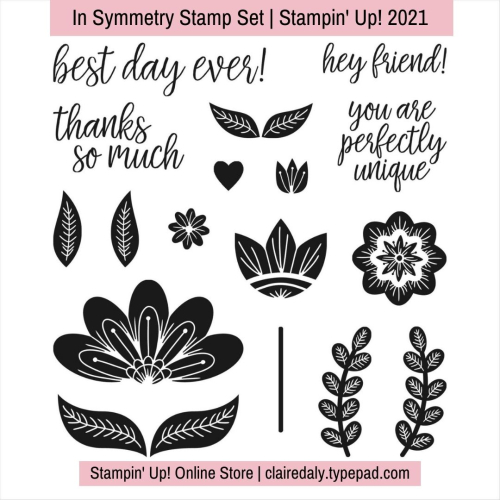 Stampin Up 2021 In Symmetry stamp set. Available in my online store.