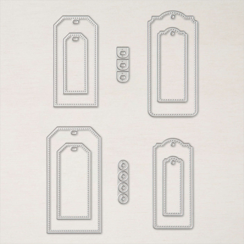Stampin Up 2021 Tailor Made Tags Dies. Available in Australia from Claire Daly. Stampin Up Demonstrator Melbourne