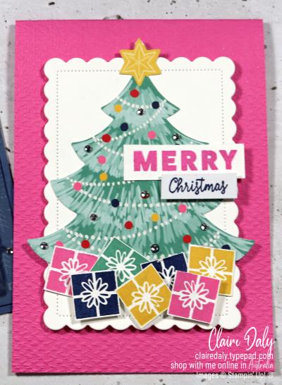Stampin Up Love Santa Tag Kit  alternative Christmas cards. Claire Daly, Stampin Up Demonstrator, Melbourne, Australia.